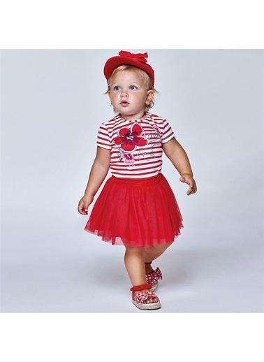 Mayoral Mayoral Kiz Bebek Üçlü Etek Set Kırmızı 20829 Kırmızı